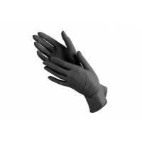 Перчатки нитриловые неопудренные черного цвета